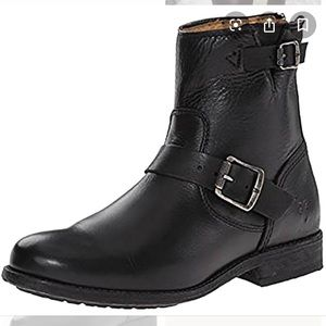 Frye Tyler engineer black leather boot